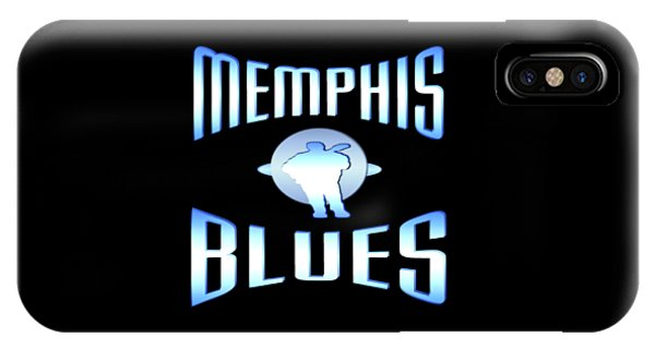 Sports Clothing iPhone Case - Memphis Blues Music Design by Peter Potter