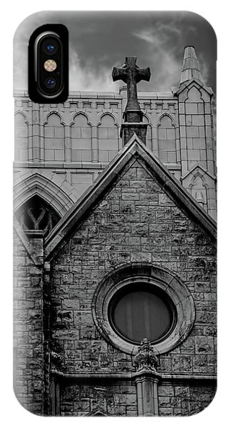 Memphis Cross In The Clouds Bw IPhone Case