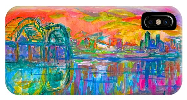 IPhone Case featuring the painting Memphis Spin by Kendall Kessler