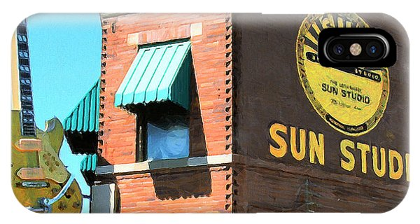 Johnny Cash iPhone Case - Memphis Sun Studio Birthplace Of Rock And Roll 20160215 Square by Wingsdomain Art and Photography