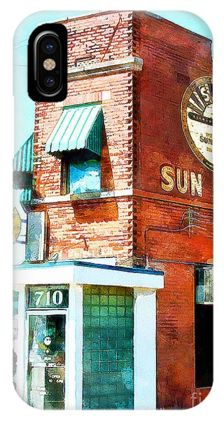 Johnny Cash iPhone Case - Memphis Sun Studio Birthplace Of Rock And Roll 20160215wcstyle by Wingsdomain Art and Photography