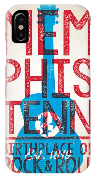 Concert iPhone Case - Memphis Poster - Tennessee by Jim Zahniser