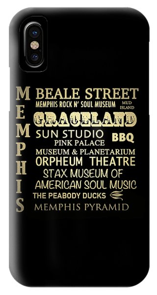 Memphis Tennessee Famous Landmarks IPhone Case