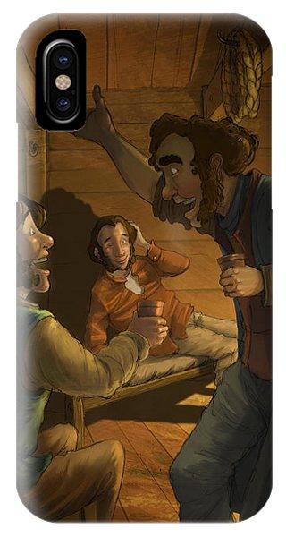 Men In A Hut IPhone Case