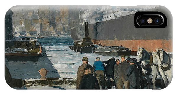 20th Century Man iPhone Case - Men Of The Docks by George Bellows