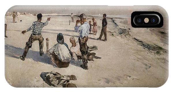 Swedish Painters iPhone Case - Men Warping by Bruno Liljefors