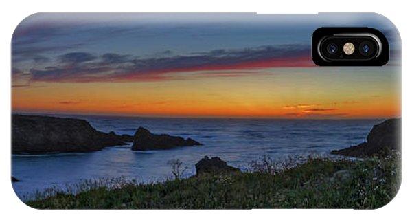 Mendocino Headlands Sunset IPhone Case