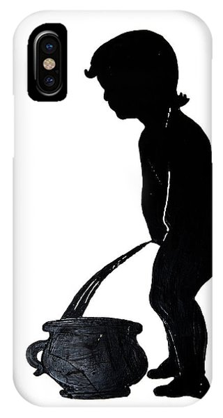 Mens Room Sign Silhouette IPhone Case