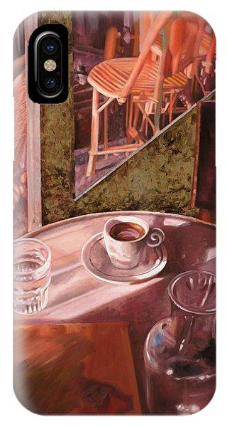 Cafe iPhone Case - Mentre Ti Aspetto by Guido Borelli