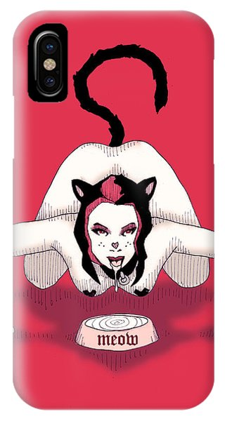 Kitten iPhone Case - Meow by Ludwig Van Bacon