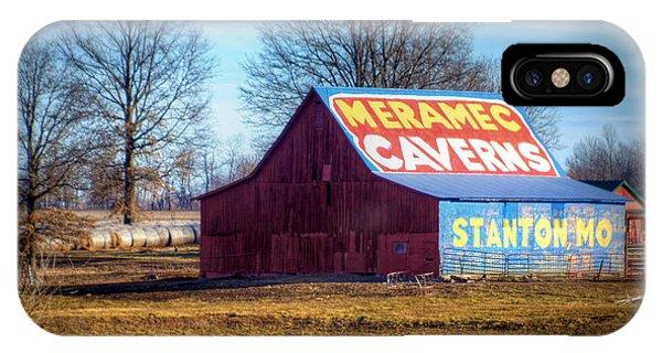 Meramec Caverns Barn IPhone Case