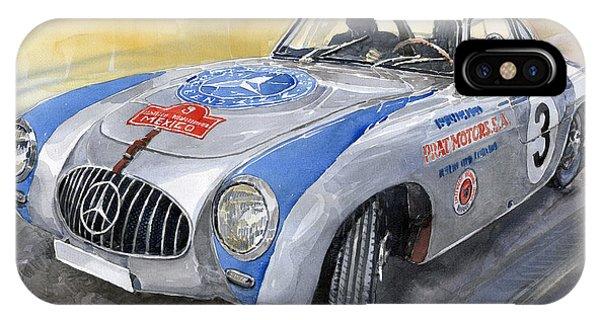 Automotive iPhone Case - Mercedes Benz 300 Sl 1952 Carrera Panamericana Mexico  by Yuriy Shevchuk