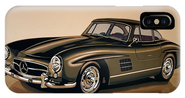 Elegant iPhone Case - Mercedes Benz 300 Sl 1954 Painting by Paul Meijering