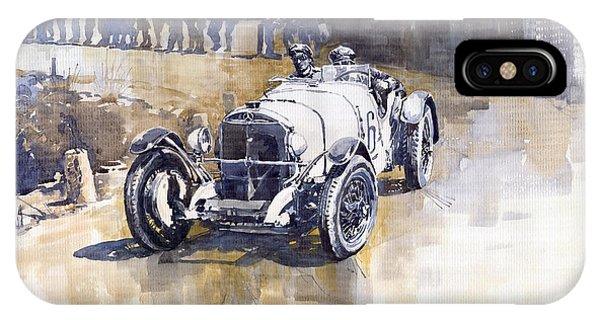 Automotive iPhone Case - Mercedes Benz Ssk 1930 Rudolf Caracciola by Yuriy Shevchuk