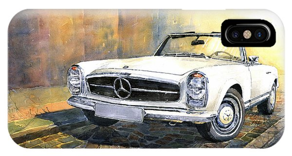 Car iPhone X Case - Mercedes Benz W113 280 Sl Pagoda Front by Yuriy Shevchuk