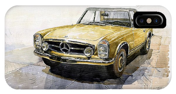 Car iPhone X Case - Mercedes Benz W113 Pagoda by Yuriy Shevchuk