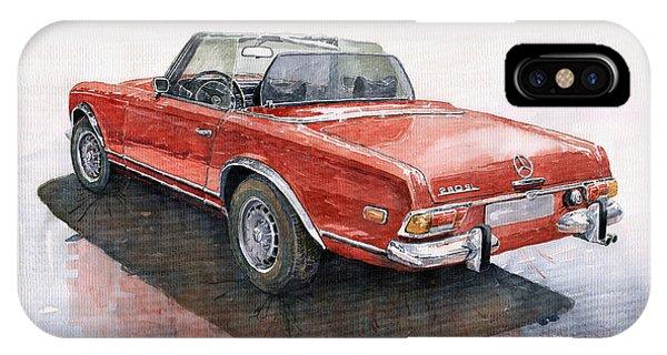 Auto iPhone Case - Mercedes Benz W113 Sl280 by Yuriy Shevchuk