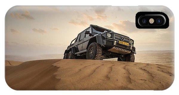 Mercedes G63 6x6 In Oman Desert IPhone Case