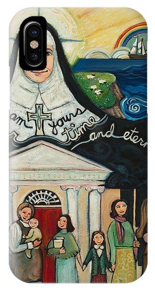 Sister iPhone Case - Mercy Foundress Catherine Mcauley by Jen Norton