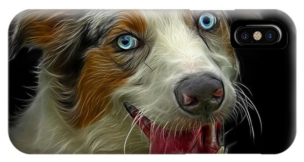 IPhone Case featuring the painting Merle Australian Shepherd - 2136 - Bb by James Ahn