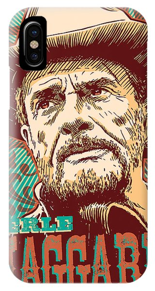 Country iPhone Case - Merle Haggard Pop Art by Jim Zahniser