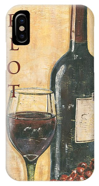 Cocktail iPhone Case - Merlot Wine And Grapes by Debbie DeWitt