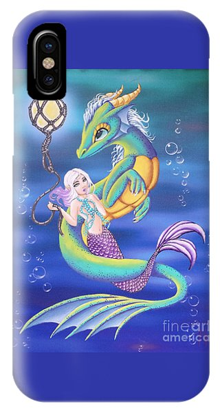 Mermaid And Sea Dragon IPhone Case