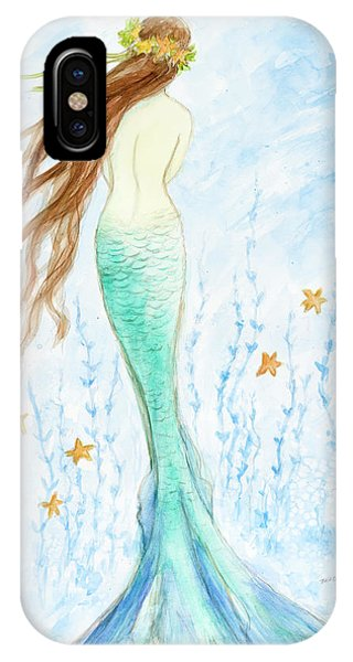 Mermaid iPhone Case - Mermaid In Her Garden by Tina Obrien