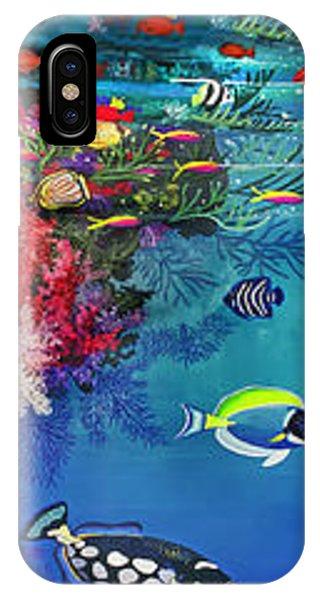 Mermaid In Paradise Complete Underwater Descent IPhone Case