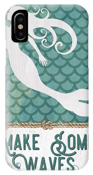 Seahorse iPhone Case - Mermaid Waves 1 by Debbie DeWitt