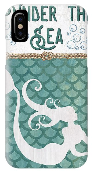 Mythological Creature iPhone Case - Mermaid Waves 2 by Debbie DeWitt