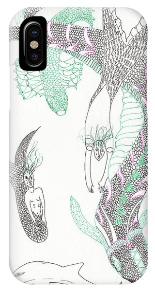 Mermaids And Sea Dragons IPhone Case