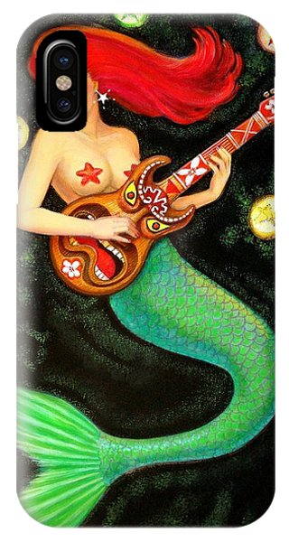 Mermaids Rock Tiki Guitar IPhone Case