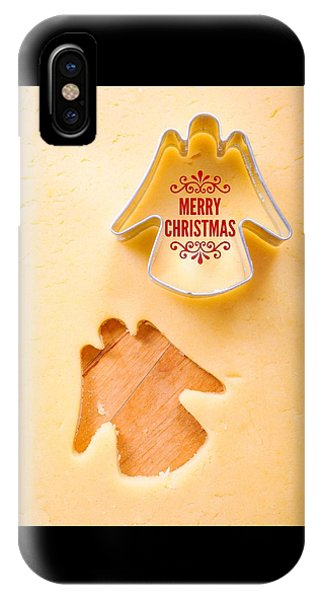 Holiday iPhone Case - Merry Christmas Angel Cookie Cutter by Matthias Hauser