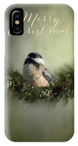 Merry Christmas Chicadee 1 IPhone Case