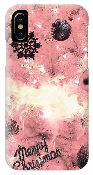 Merry Christmas In Pink IPhone Case