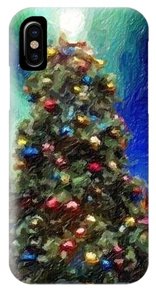 IPhone Case featuring the digital art Merry Christmas by Marian Palucci-Lonzetta