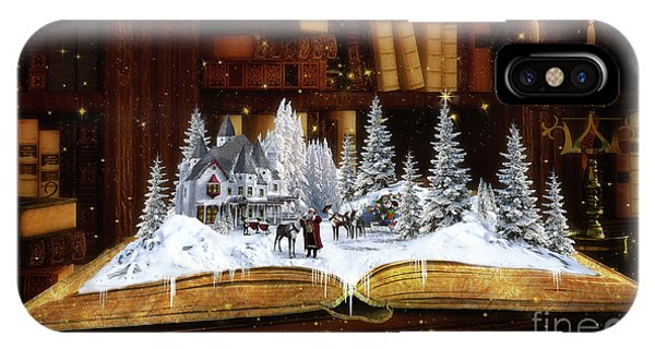 iPhone Case - Merry Christmas Scene by Shanina Conway