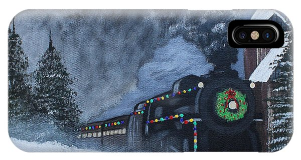 Merry Christmas Train IPhone Case