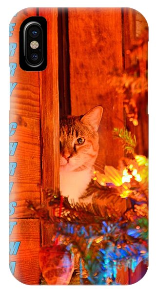 IPhone Case featuring the photograph Merry Christmas Waiting For Santa by Lisa Wooten