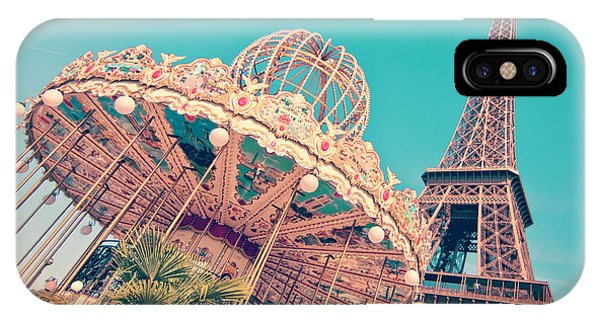 Carousel iPhone Case - Merry Go Paris by Delphimages Photo Creations