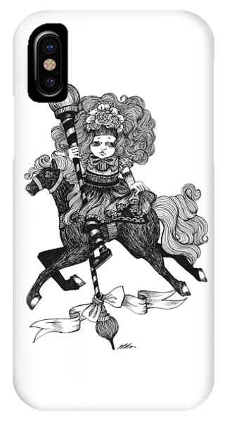 Merry-go-round Girl IPhone Case
