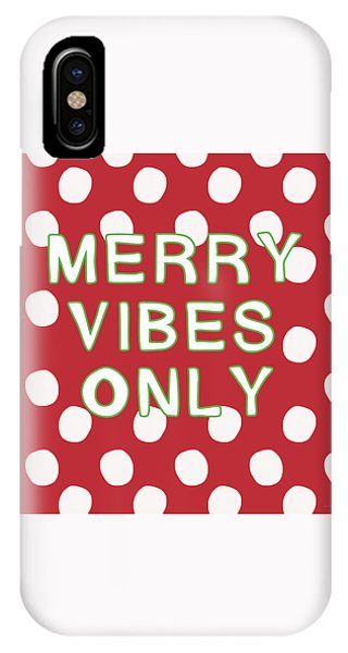 Holidays iPhone Case - Merry Vibes Only Polka Dots- Art By Linda Woods by Linda Woods
