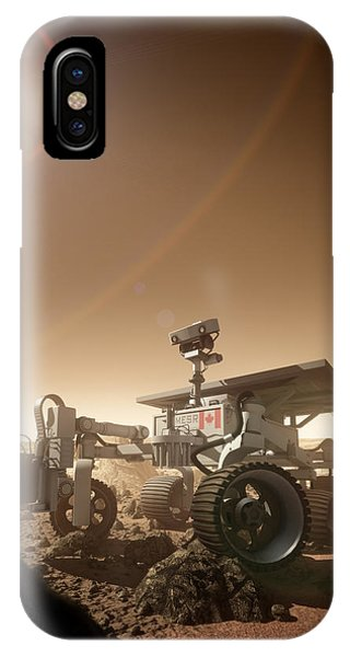 IPhone Case featuring the digital art Mers Rover by Bryan Versteeg