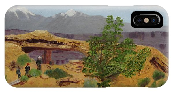 IPhone Case featuring the painting Mesa Arch by Linda Feinberg