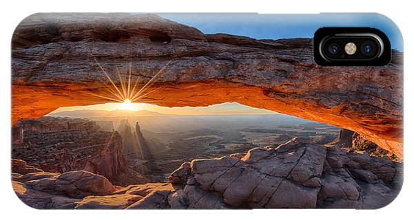 View Through The Mesa Arch At  Sunrise IPhone Case