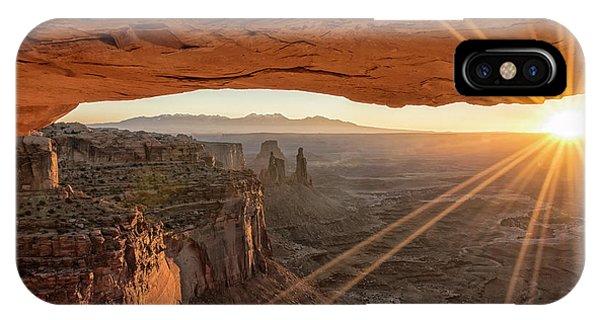 Beautiful Sunrise iPhone Case - Mesa Arch Sunrise 4 - Canyonlands National Park - Moab Utah by Brian Harig