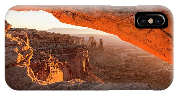 Beauty In Nature iPhone Case - Mesa Arch Sunrise 5 - Canyonlands National Park - Moab Utah by Brian Harig