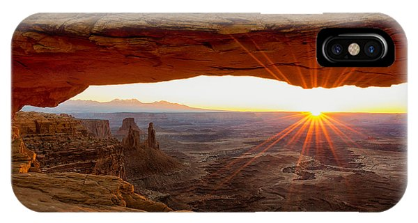 Beams iPhone Case - Mesa Arch Sunrise - Canyonlands National Park - Moab Utah by Brian Harig