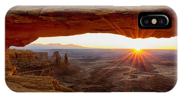 Scenery iPhone Case - Mesa Arch Sunrise - Canyonlands National Park - Moab Utah by Brian Harig